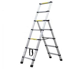 铝合金双面伸缩梯