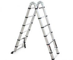 成都双面竹节梯铝合金折叠梯